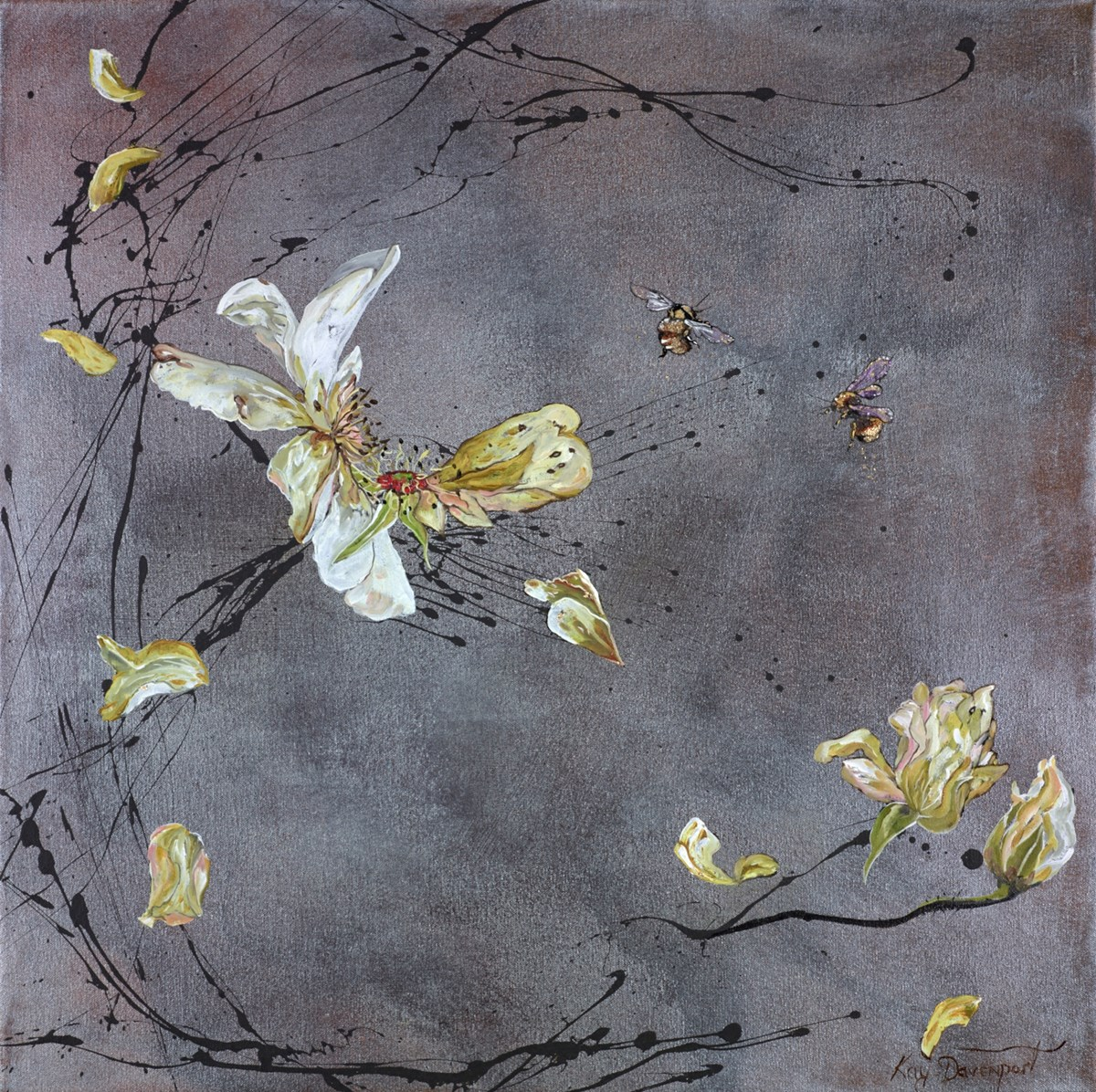 Last Bees of Summer by kay davenport -  sized 24x24 inches. Available from Whitewall Galleries